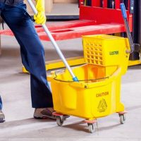 sweeping and mopping floor care